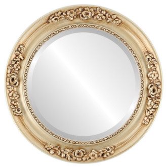 Beveled Mirror - Versailles Round Frame - Silver