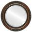 Beveled Mirror - Versailles Round Frame - Walnut