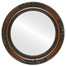 Flat Mirror - Versailles Circle Frame - Walnut