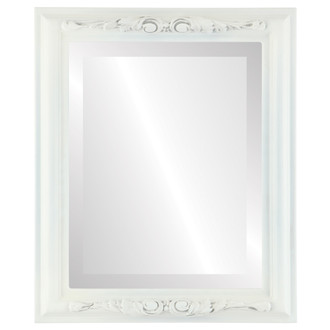 Beveled Mirror - Florence Rectangle Frame - Linen White