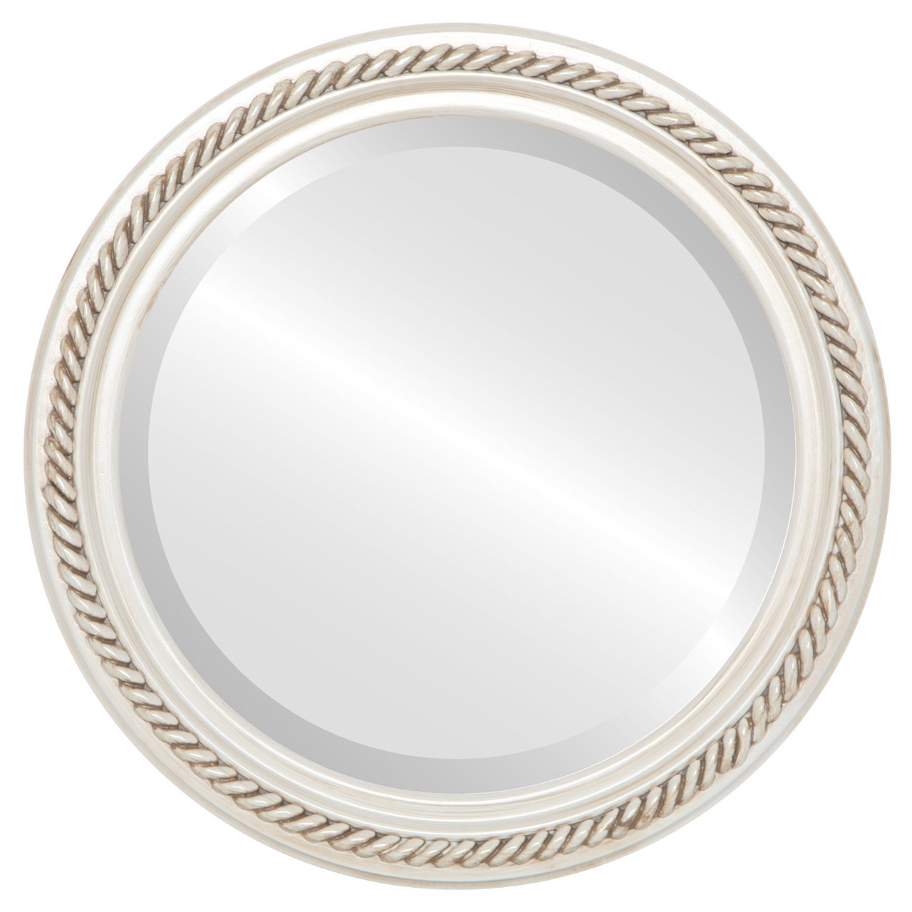 Antique White Round Mirrors from $136 | Free Shipping