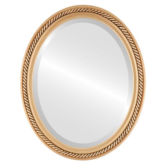 Beveled Mirror - Santa Fe Oval Frame - Gold Paint