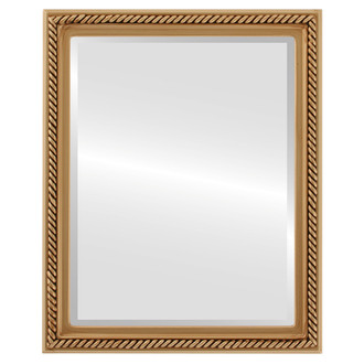 Beveled Mirror - Santa Fe Rectangle Frame - Gold Paint