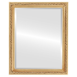 Beveled Mirror - Santa Fe Rectangle Frame - Gold Leaf