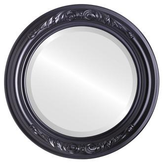 Beveled Mirror - Florence Round Frame - Matte Black
