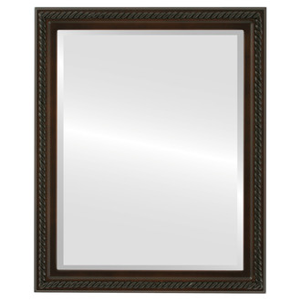 Beveled Mirror - Santa Fe Rectangle Frame - Walnut