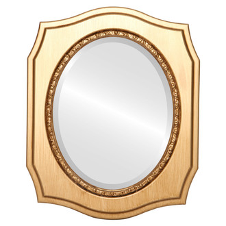 Beveled Mirror - San Francisco Oval Frame - Gold Paint
