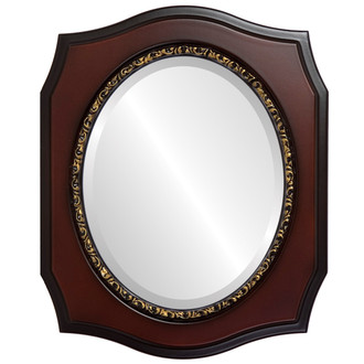 Beveled Mirror - San Francisco Oval Frame - Rosewood