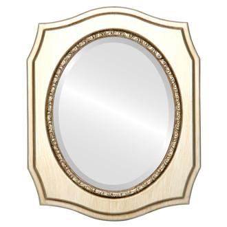 Beveled Mirror - San Francisco Oval Frame - Silver