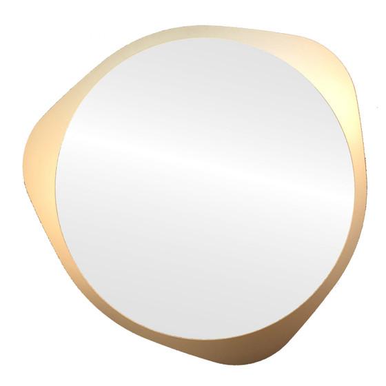 Framed Mirror in Gold Spray