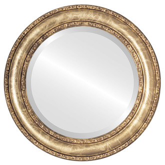 Beveled Mirror - Dorset Round Frame - Champagne Gold