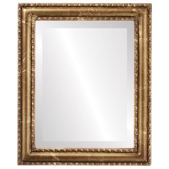Beveled Mirror - Dorset Rectangle Frame - Champagne Gold