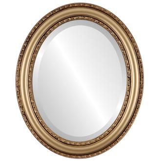 Beveled Mirror - Dorset Oval Frame - Desert Gold