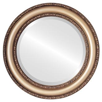 Beveled Mirror - Dorset Round Frame - Desert Gold