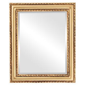 Beveled Mirror - Dorset Rectangle Frame - Desert Gold