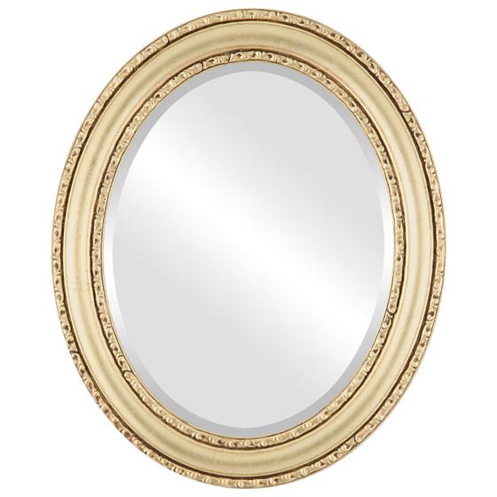 Beveled Mirror - Dorset Oval Frame - Gold Leaf