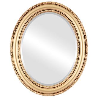 Beveled Mirror - Dorset Oval Frame - Gold Spray
