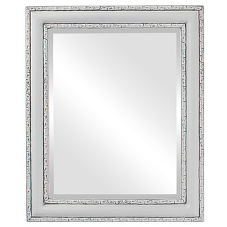 Beveled Mirror - Dorset Rectangle Frame - Linen White