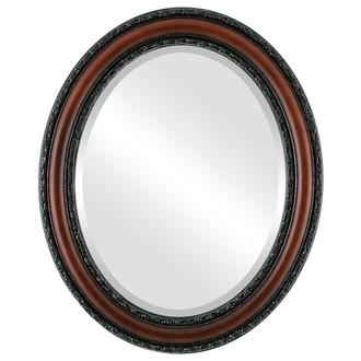 Beveled Mirror - Dorset Oval Frame - Rosewood