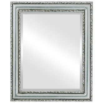 Beveled Mirror - Dorset Rectangle Frame - Silver Leaf with Brown Antique