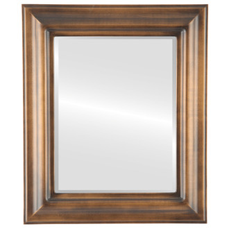 Beveled Mirror - Lancaster Rectangle Frame - Sunset Gold