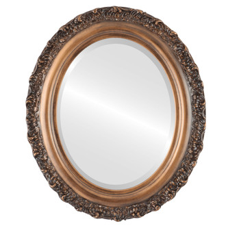 Beveled Mirror - Venice Oval Frame - Sunset Gold