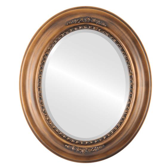 Beveled Mirror - Boston Oval Frame - Sunset Gold