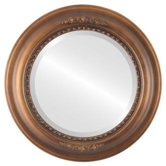 Beveled Mirror - Boston Round Frame - Sunset Gold