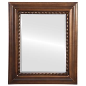 Beveled Mirror - Heritage Rectangle Frame - Sunset Gold