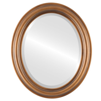 Beveled Mirror - Philadelphia Oval Frame - Sunset Goldk