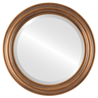 Beveled Mirror - Philadelphia Round Frame - Sunset Gold
