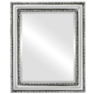 Beveled Mirror - Dorset Rectangle Frame - Silver Spray