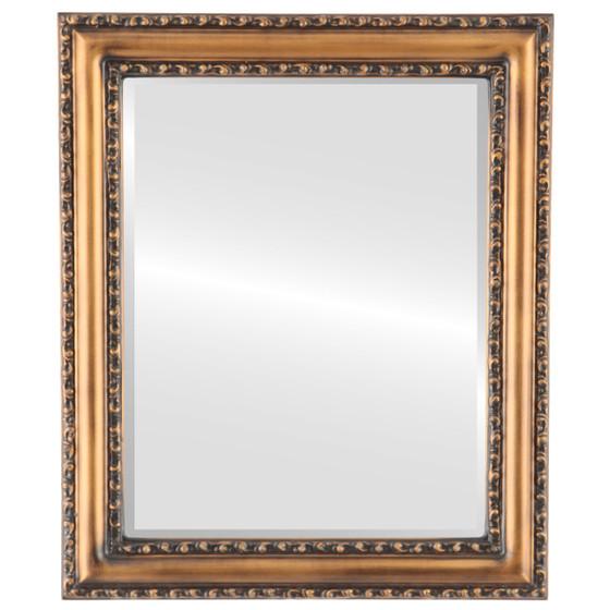 Beveled Mirror - Dorset Rectangle Frame - Sunset Gold