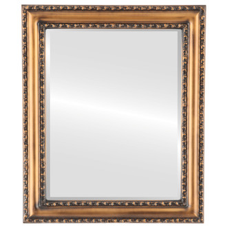 Beveled Mirror - Dorset Rectangle Frame - Sunset Gold