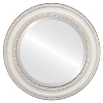 Beveled Mirror - Dorset Round Frame - Taupe