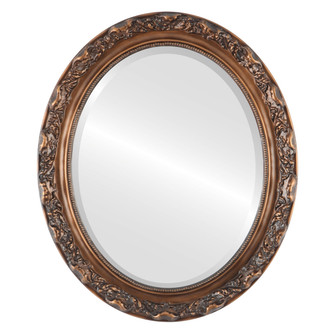 Beveled Mirror - Rome Oval Frame - Sunset Gold
