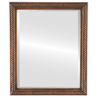 Beveled Mirror - Santa Fe Rectangle Frame - Sunset Gold
