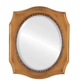 Beveled Mirror - San Francisco Oval Frame - Sunset Gold