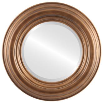 Beveled Mirror - Regalia Round Frame - Sunset Gold