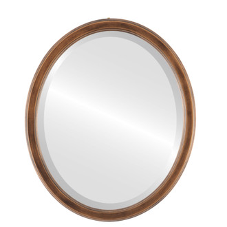 Beveled Mirror - Toronto Oval Frame - Sunset Gold