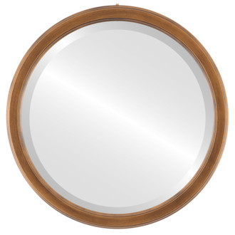 Beveled Mirror - Toronto Round Frame - Sunset Gold