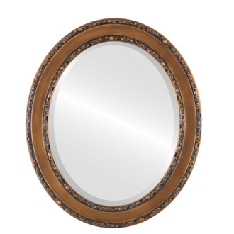 Beveled Mirror - Monticello Oval Frame - Sunset Gold