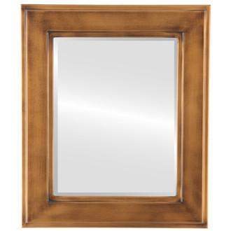 Beveled Mirror - Montreal Rectangle Frame - Sunset Gold