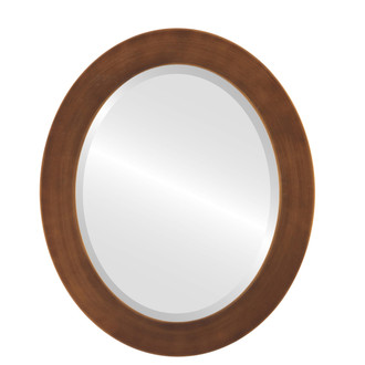 Beveled Mirror - Soho Oval Frame - Sunset Gold