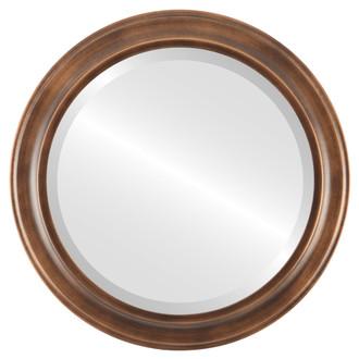 Beveled Mirror - Messina Round Frame - Sunset Gold