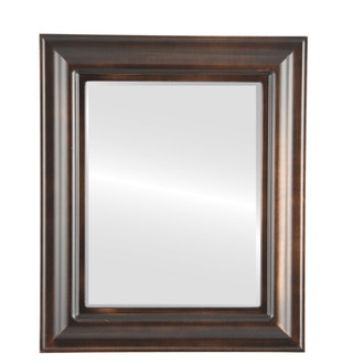 Beveled Mirror - Lancaster Rectangle Frame - Rubbed Bronze