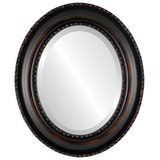 Beveled Mirror - Somerset Oval Frame - Rubbed Bronze