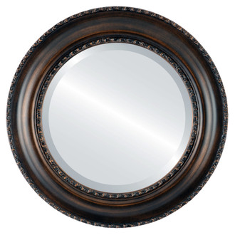 Beveled Mirror - Somerset Round Frame - Rubbed Bronze