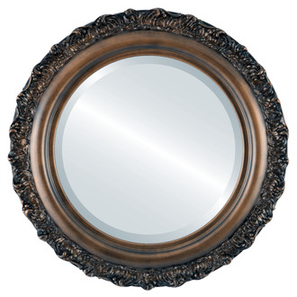 Beveled Mirror - Venice Round Frame - Rubbed Bronze