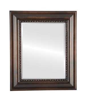 Beveled Mirror - Chicago Rectangle Frame - Rubbed Bronze
